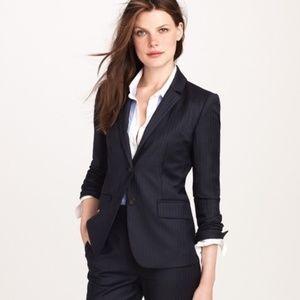 J. Crew Women Super 120s Wool Pinstripe Jacket